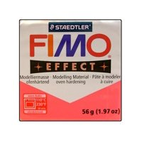 Fimo Effect Clay 56gm Translucent Red