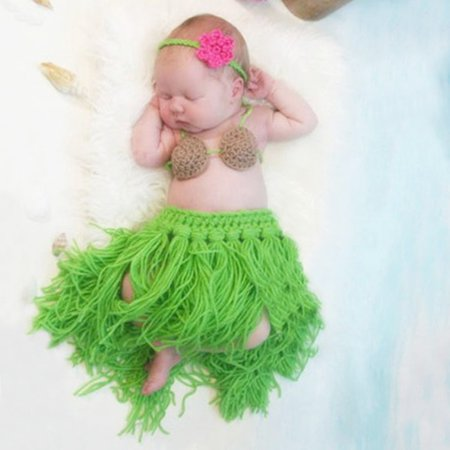 Cotton Chenille Knitting Yarn - Baby Crochet Knitting Milk Cotton Yarn Hawaii Grass Skirt Photo Outfits Clothes Suit for Gift