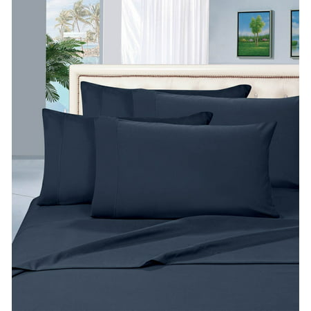 Silky-Soft 2-Piece Pillowcases, King Size - Navy Blue