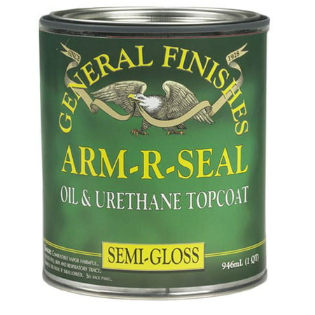 General Finishes Arm R Seal Top Coat, Semi-Gloss,