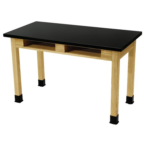 National Public Seating Dual Book Compartment Science Table