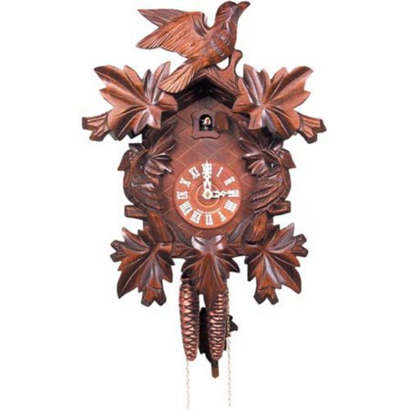 Bird and 5 Leaf Design Cuckoo Clock