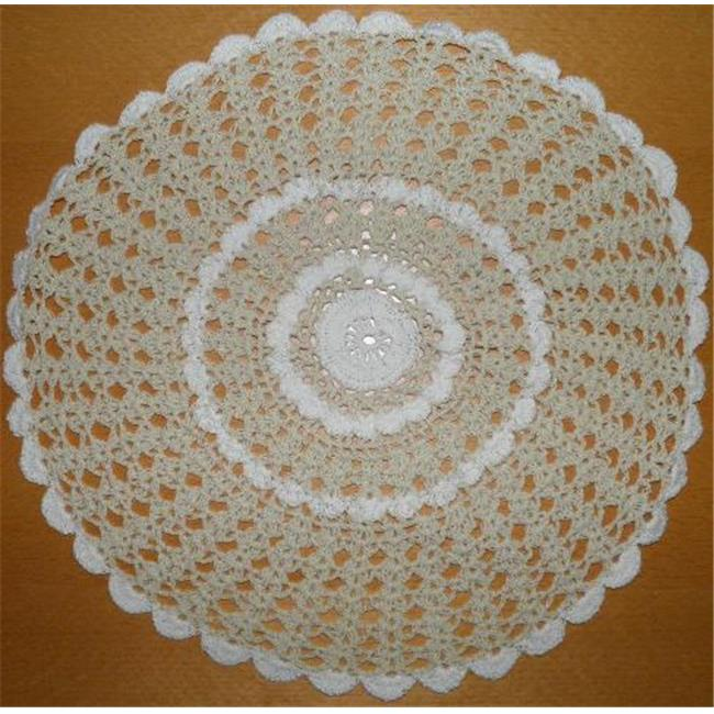 Tapestry Trading NL-14I6 6 in. Handmade Indian Crochet Coasters, Ivory