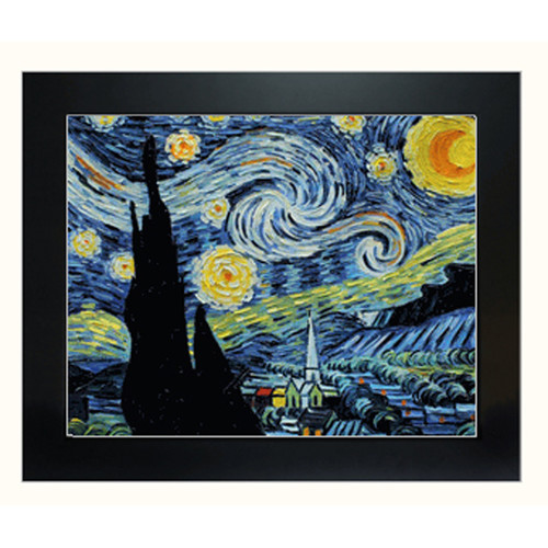Tori Home Starry Night by Vincent Van Gogh Framed Original Painting