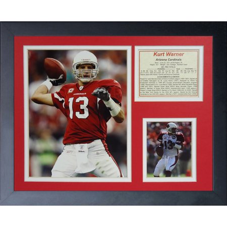 Legends Never Die Arizona Cardinals Kurt Warner Framed Memorabili