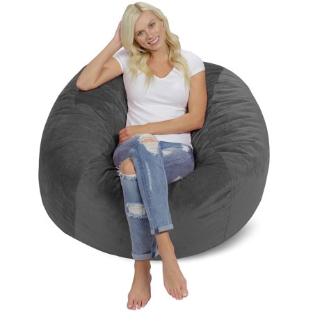 Fantastic Memory Foam Bean Bag Chair 4 Ft Machost Co Dining Chair Design Ideas Machostcouk