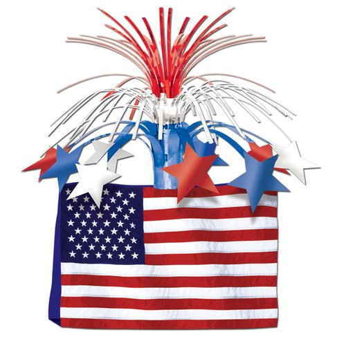 The Holiday Aisle Patriotic American Flag Centerpiece
