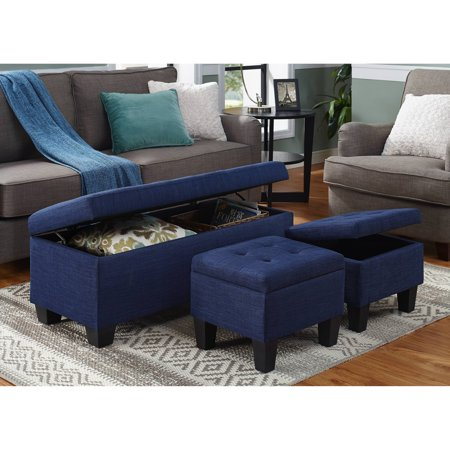 Picket House Everett 1pk Storage Ottoman in Charcoal