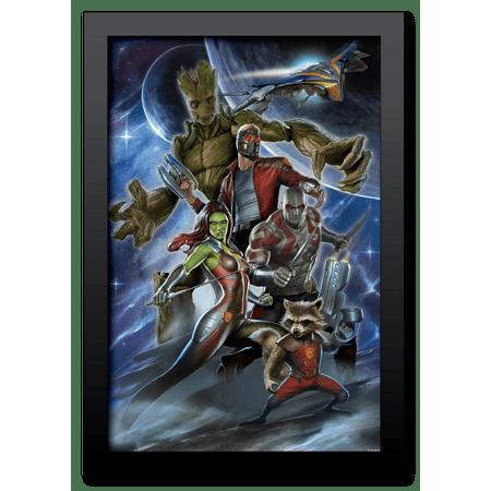 "Marvel, ""Guardians of the Galaxy"" Retro MDF frame"