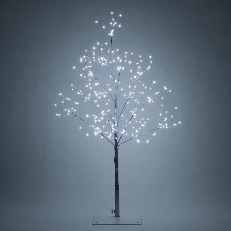 Wintergreen Lighting 3' Lighted Tree Decoration with Silver Branches, 270 Cool White Fairy Lights ()