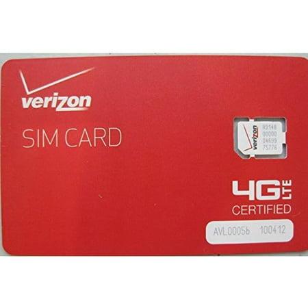Verizon Wireless 4G LTE Nano SIM Card 4FF (Verizon Starter Kit)