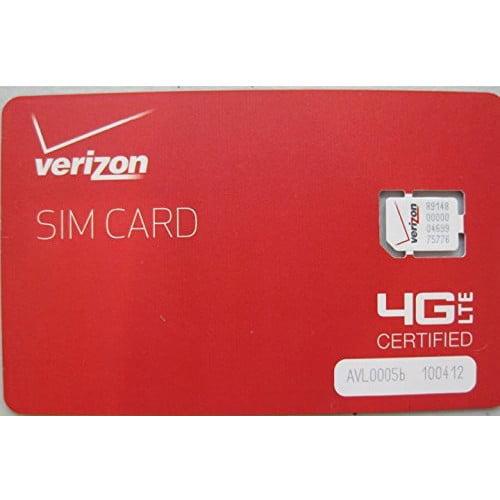 Verizon Wireless 4G LTE Nano SIM Card 4FF