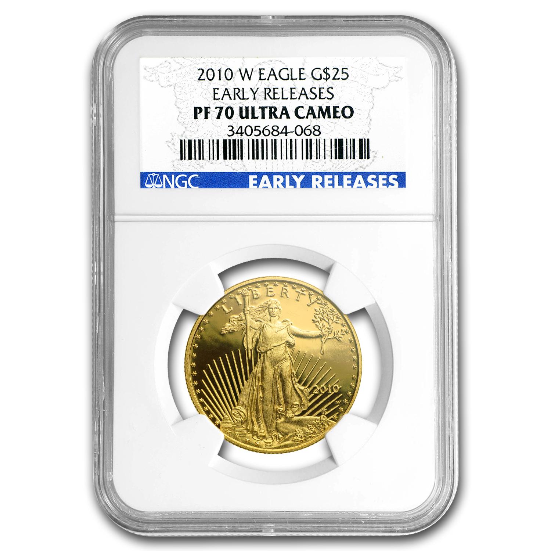 2010-W 1/2 oz Proof Gold American Eagle PF-70 NGC (ER)