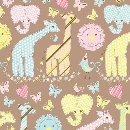Jillson   Roberts Bulk Gift Wrap  Animal Quilt  1 2 Ream 417 X 30