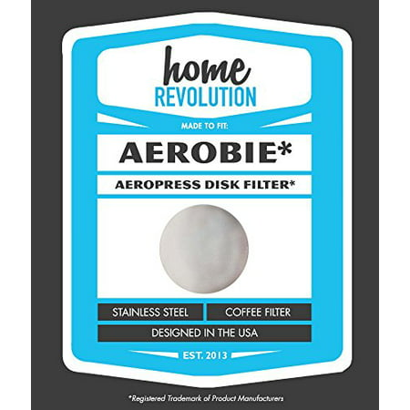 Aerobie Aeropress Home Revolution Brand Washable & Reusable Aftermarket Replacement Coffee Filter; Made to Fit All Aerobie AeroPress Coffee & Espresso