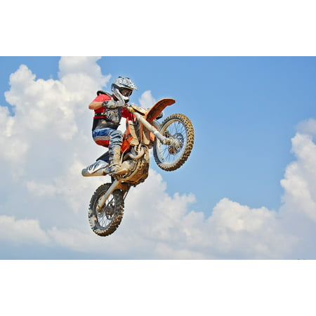 LAMINATED POSTER Dirt Bike Motocross Rider Extreme Sports Air Jump Poster Print 24 x (Motocross Poster)