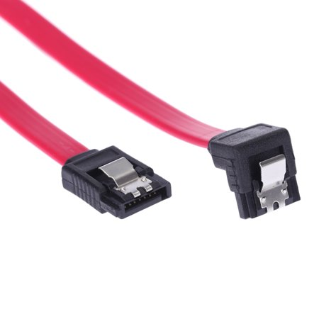 - SATA 2.0 High Speed Straight/Right Angle Connector Data Cable Cord with Locking Latch Plug for HDD Hard Drive SSD