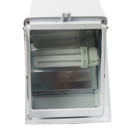 42w Compact Fluorescent Lamp - Nsi Fluorescent Adjustable Compact Wallpack Area Light Fixture White; Lamp Included. 42W 120V/ 60Hz Fl