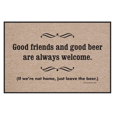 High Cotton Good Friends Good Beer Indoor/Outdoor Door Mat