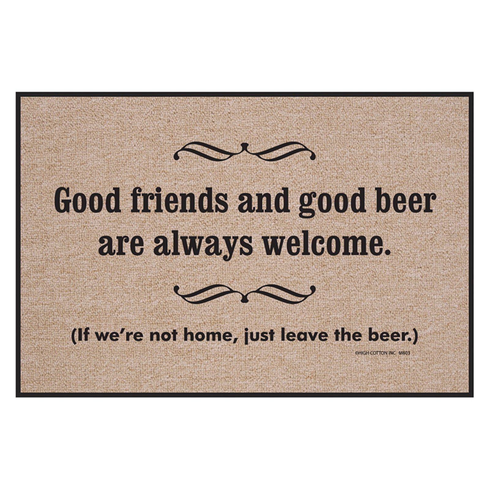 High Cotton Good Friends Good Beer Indoor/Outdoor Door Mat