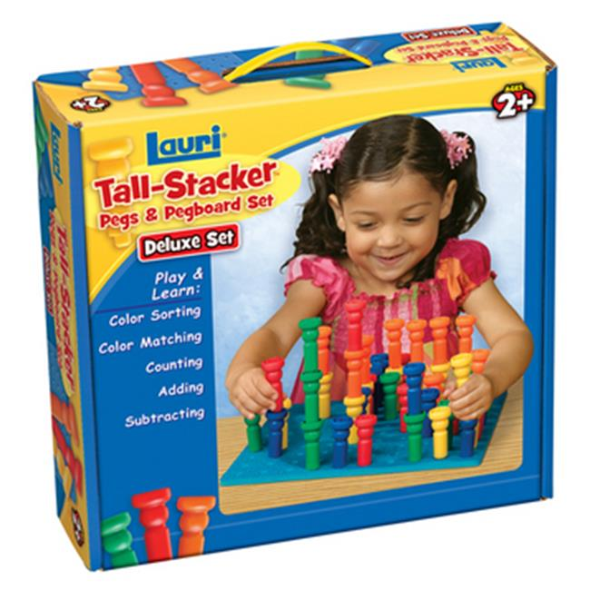 Patch Products 2446 Deluxe Tall-Stacker Pegs & Pegboard Set