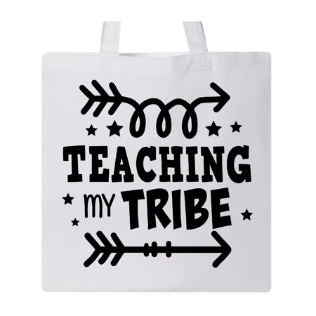 Teacher Teaching My Tribe with Arrows Tote Bag White One