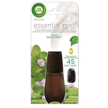 (2 pack) Air Wick Essential Mist Fragrance Oil Diffuser Refill, Wild Mint, Air -