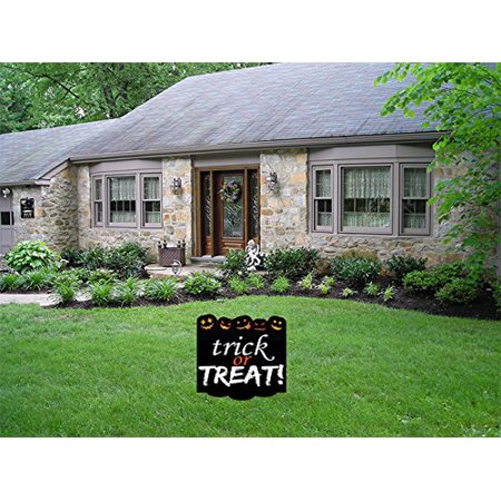 Aahs Engravings Trick or Treat! Sinister Jack-O-Lantern Yard Sign](Halloween Trick Or Treat Door Sign)