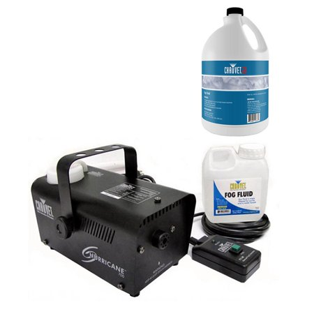 Chauvet DJ Hurricane Pro Fog Smoke Machine w/ Remote + Fog Juice Fluid, 1 Gallon