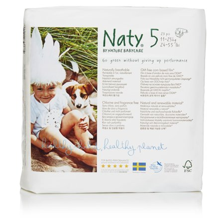 Organic Pocket Diapers - Naty by Nature Babycare Eco-Friendly Diapers (Choose Size and Count) - Premium Disposable Diapers for Sensitive Skin