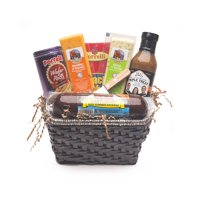 Deli Direct Wisconsin Cheese & Sausage Small Gift Basket 6 pc Basket