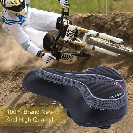 Bike Seat Cushion Comfortable Wide Big Bum Bicycle Gel Cruiser Extra Sporty Soft Pad Saddle Seat