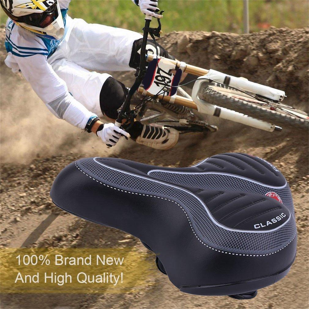 Comfort Wide Big Bum Bike Bicycle Gel Cruiser Extra Seat Pad Saddle Soft P6O2