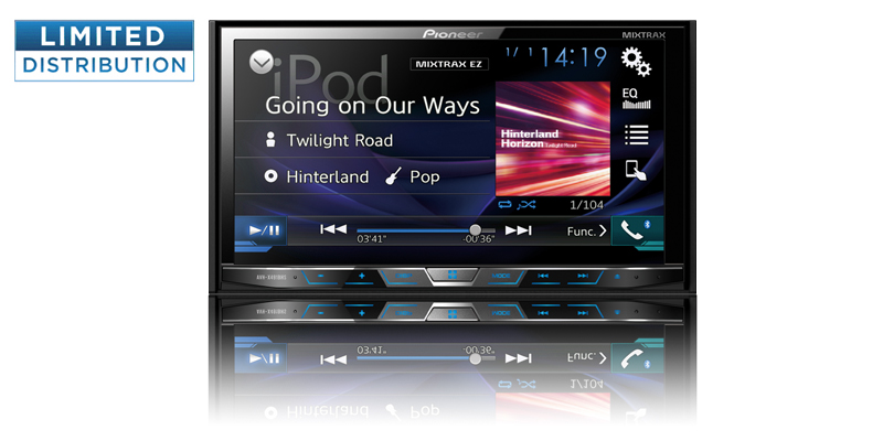 "Multimedia DVD Receiver with 7"" WVGA Display, MIXTRAX, Built-in Bluetooth, HD Radio Tuner,... by Pioneer"
