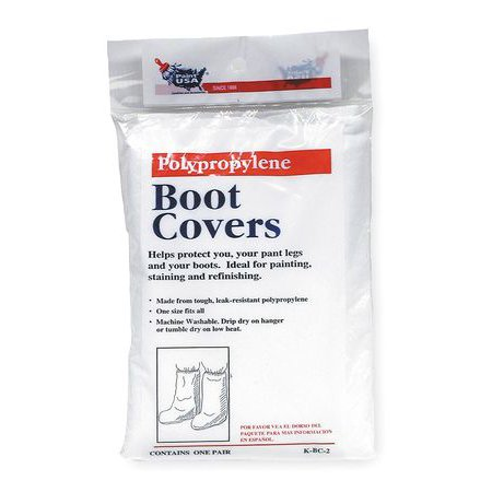 2AJT7 Universal Boot Covers, White
