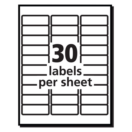 Averyr Easy Peelr Address Labels For Inkjet Printers 8160 1 X