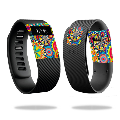 Skin Decal Wrap for Fitbit Charge cover skins sticker watch Flower Wheels