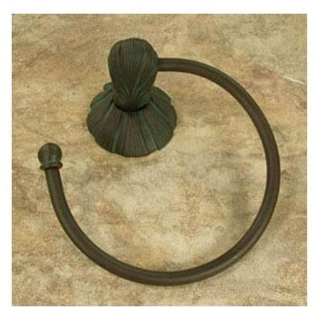 Oceanus Towel Ring w/sm. Rosette (Antique Bronze)