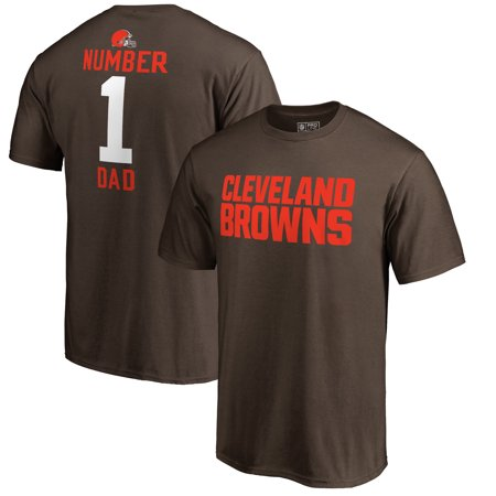 Cleveland Browns NFL Pro Line by Fanatics Branded #1 Dad T-Shirt - -