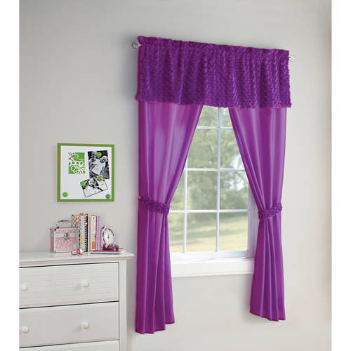 Your Zone 5-Piece Poodle Window in a Bag Set, Curtain Panels and Valance Included