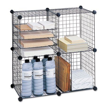Safco Wire Cube Shelving System  15W X 15D X 15H  Black