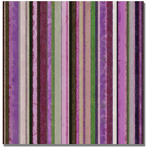 "Trademark Fine Art ""Comfortable Stripes III"" Canvas Wall Art by Michelle Calkins"