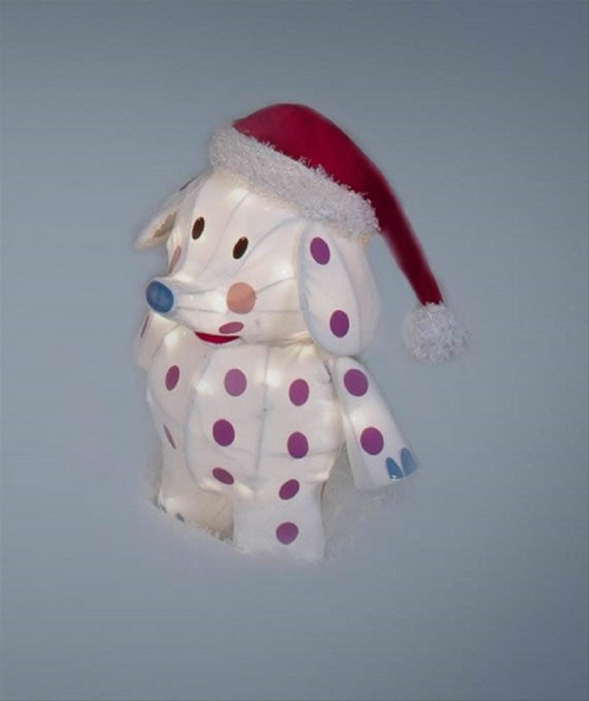 RUDOLPHS MISFIT TOYS 18 TINSEL SPOTTED ELEPHANT CHRISTMAS DECORATION