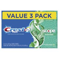 Crest + Scope Complete Whitening Toothpaste, Minty Fresh, 5.4 Oz, (3 Pack)