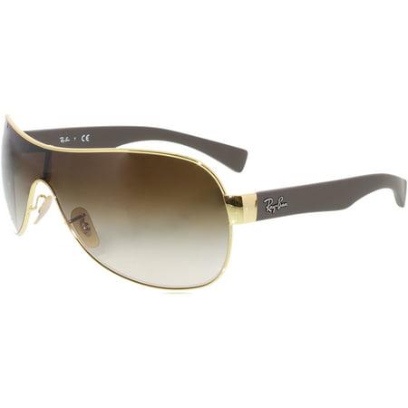 Ray-Ban Men's Gradient Highstreet RB3471-001/13-32 Gold Shield Sunglasses