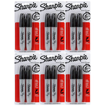 Chisel Tip Permanent Marker, Black, 1 Marker (17888), Chisel tip allows you to write with a variety of line widths By Marks-a-lot