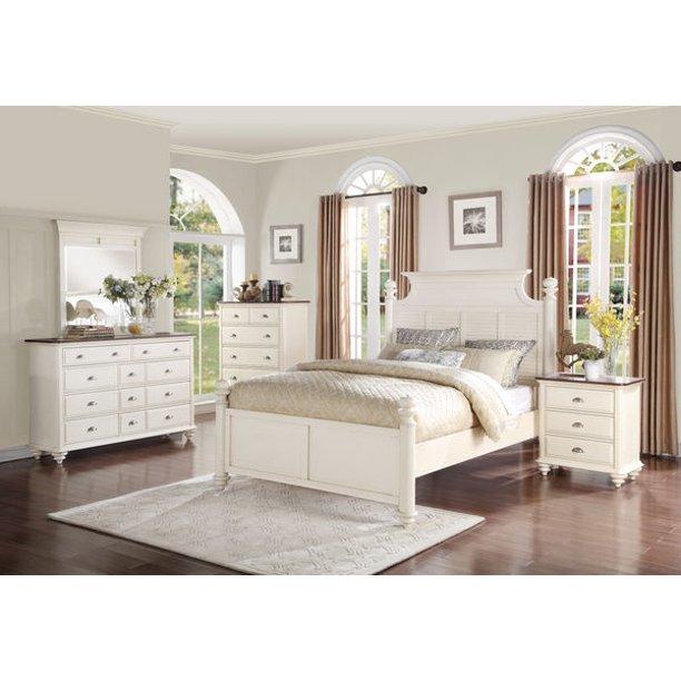 Flintville French Country Queen 5 Piece Bedroom Set In Antique