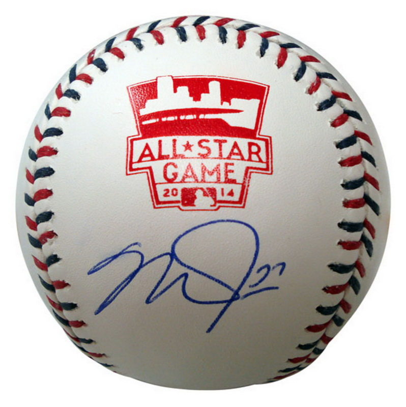 Autographed Mike Trout Inscribed All-Star Baseball