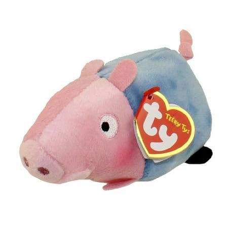 TY Beanie Boos - Teeny Tys Stackable Plush - Peppa Pig - GEORGE PIG (4 inch) - George Pig