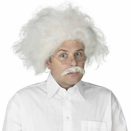 Einstein Wig Adult Halloween Costume Accessory - White Wigs Halloween